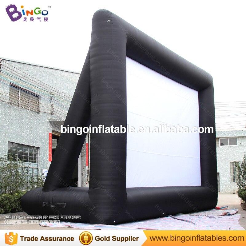 Entrega gratuita 9 M de comprimento personalizado inflável gigante movie film tela de projeção para a barraca do brinquedo