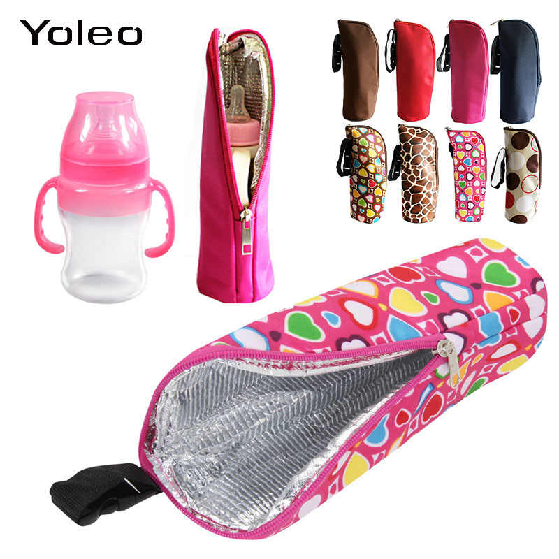 Baby Feeding Milk Bottle Warmer Insulation Bag Milk Warmer Bottle Holder Bag Baby Bottle Thermal Bottle Hanging Bag for Stroller