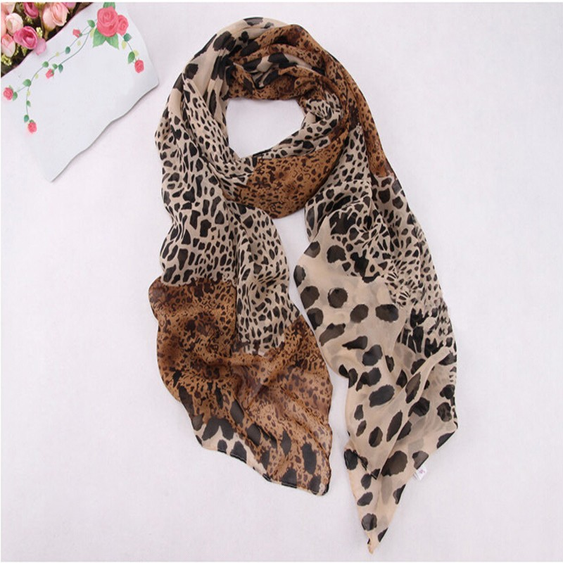 2019 Spring Women Trendy Shawls Leopard Printed Soft Long   Wrap     Scarf   Ladies Thin   Scarves   Breathable Neckerchief   Wraps