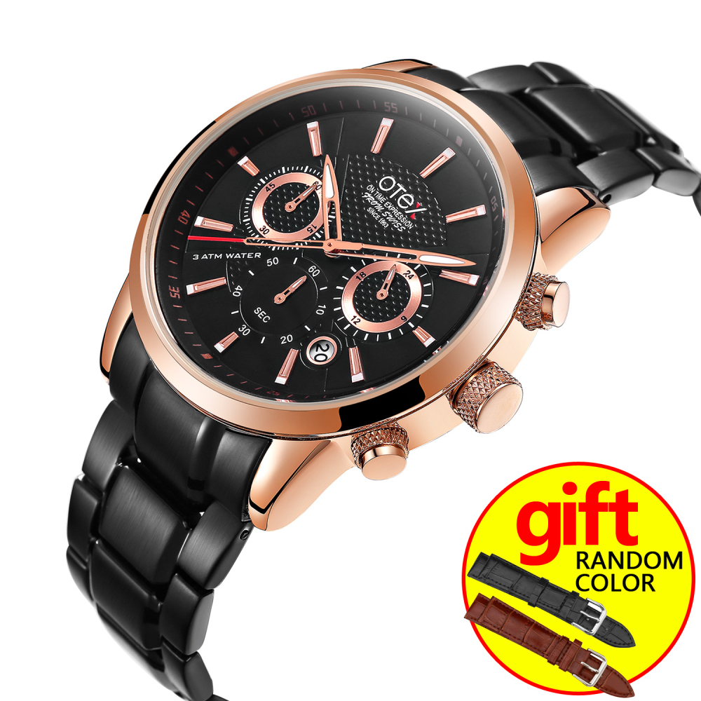 3 relogio masculino Men Watches Top Brand Luxury Fashion Business Quartz Watch Men Sport Full Steel Waterproof Wristwatch