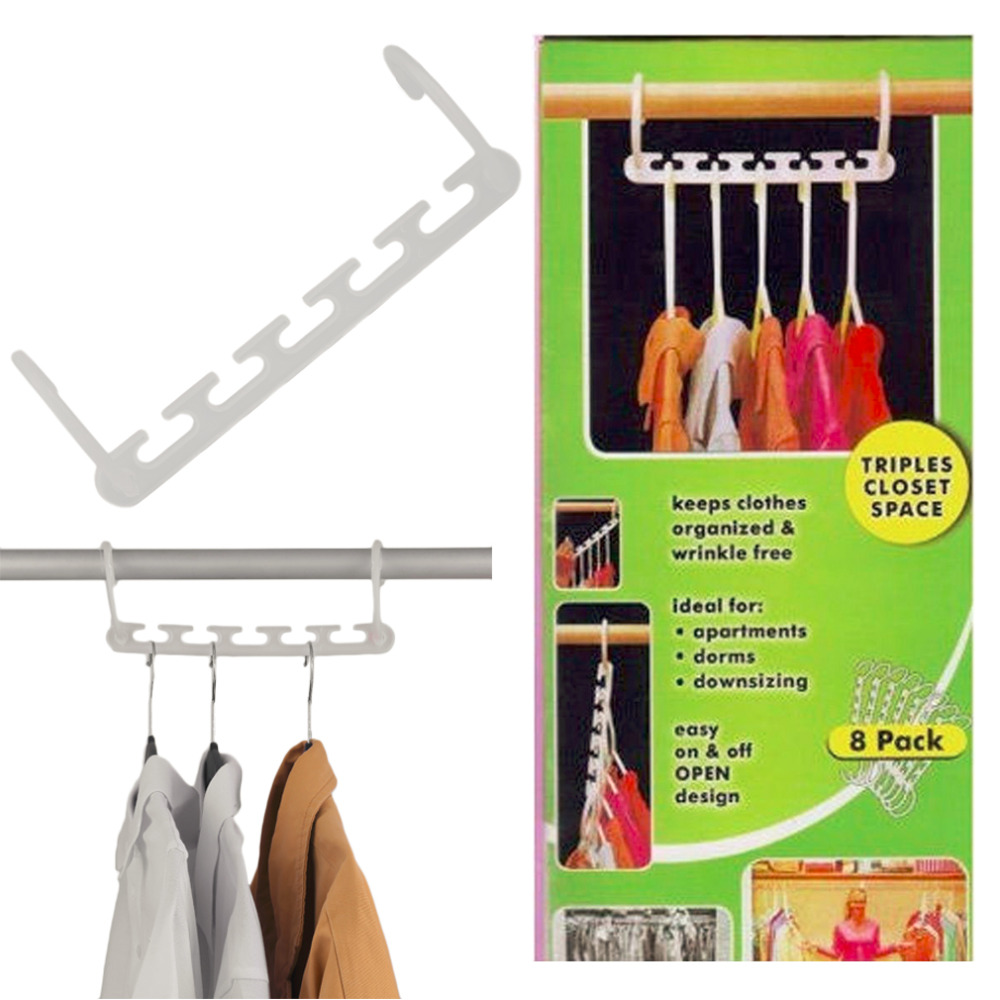 2017 Portable Storage 8 Pcs Space Saving Magic Trousers Clothing Hanger Coat Pants Clothes Closet Organizer Hooks Hanger Rack