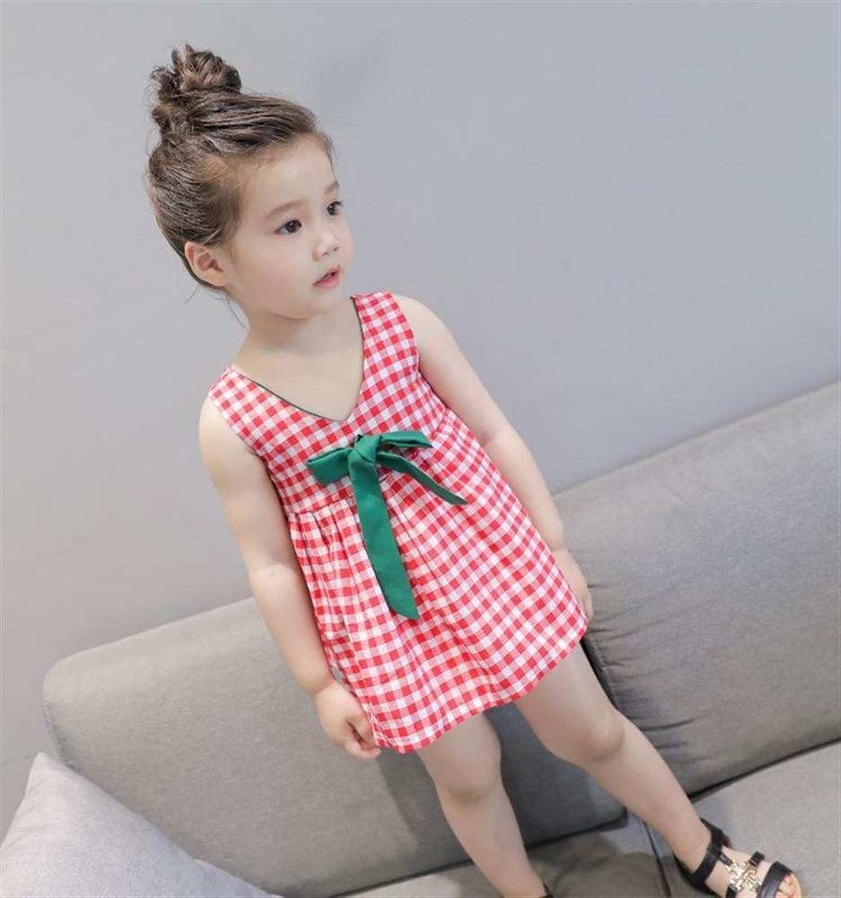 Baby Girl Dress Kids Dresses Girls Lattice Dresses Summer Kids Clothes Casual Kids Girl Vestido Party Dress Baby Girl Clothing