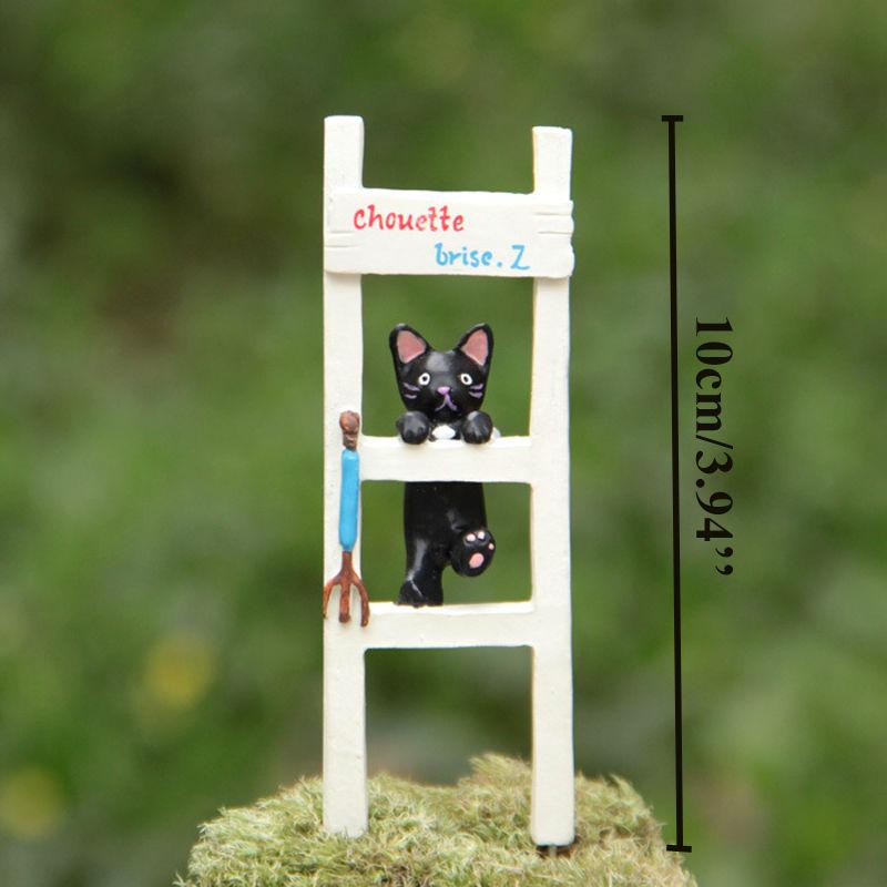 1pcs Cat Ladder Sculpture Figurines Home Wedding