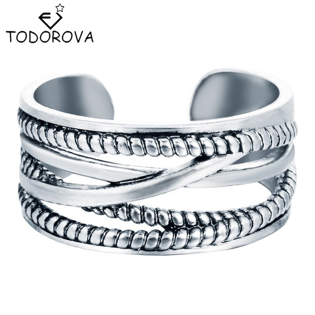 Todorova 925 Sterling Silver Jewelry Layers Line Vintage Accessories Antique Sil