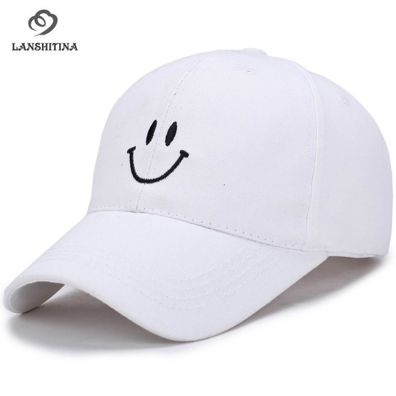 Men Women Embroidered Smile Logo Streetwear Sports Golf Baseball Caps Adjustable 6 Panel SnapBack Gorras Trucker Peaked Cap
