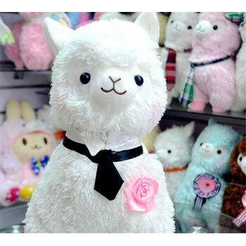 Wedding Toys 2pcs/set 35Cm Wedding Dress Alpaca Plush Stuffed Toys Kawaii Japan Alpacasso Toy Peluches Animals Llama Doll