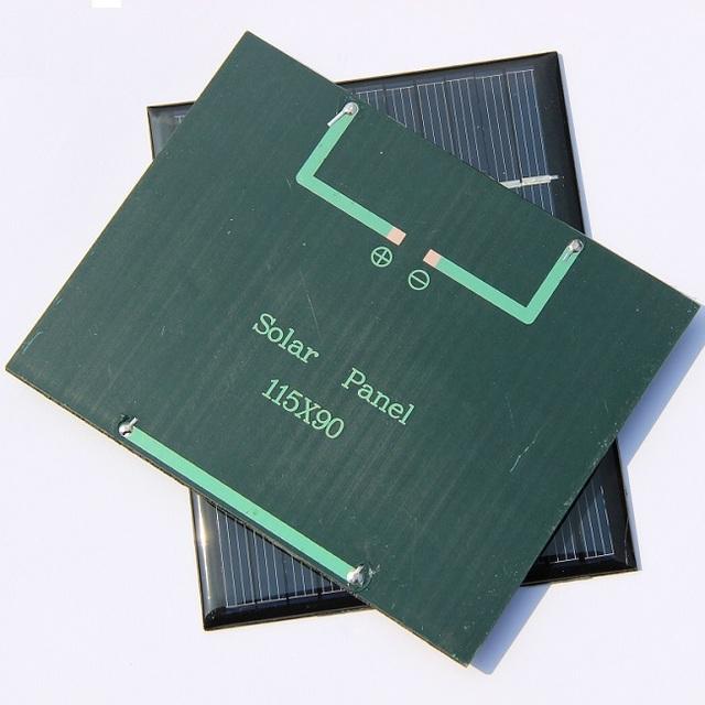 BUHESHUI 12V 1.5W Epoxy Solar Panels  Module Mini Solar Cells Polycrystalline Silicon 115*90MM 10pcs/lot Wholesale Free Shipping