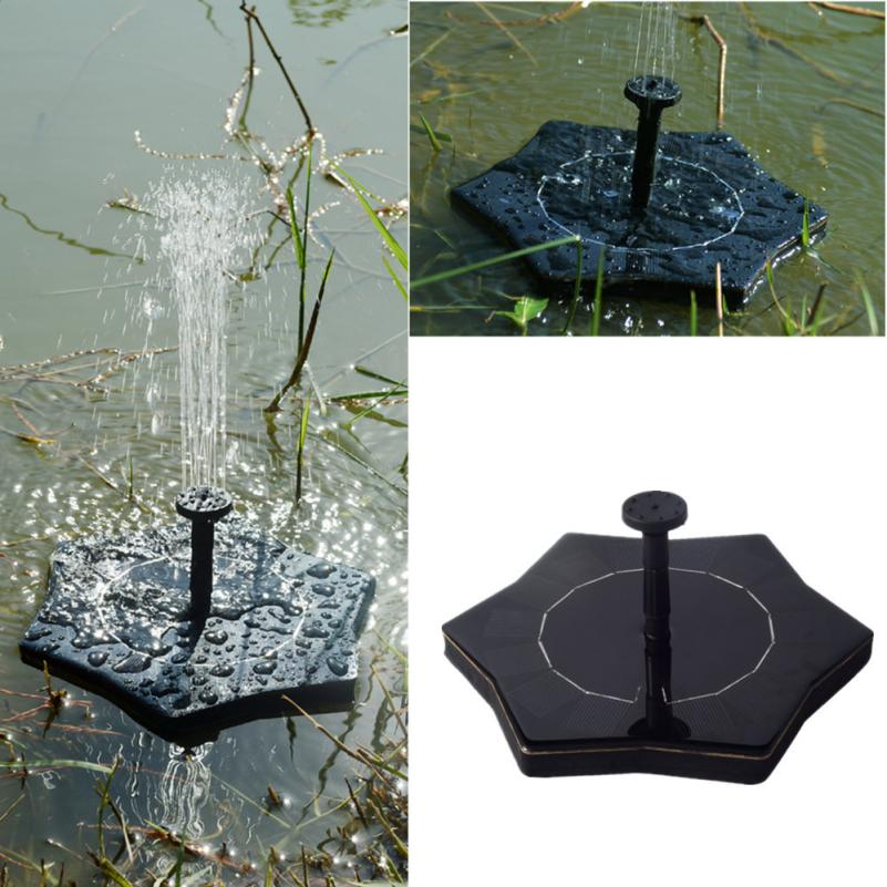 Solar Power Bird Bath Fountain Water Floating Small Pond Garden Patio Decoration Drop sh ...
