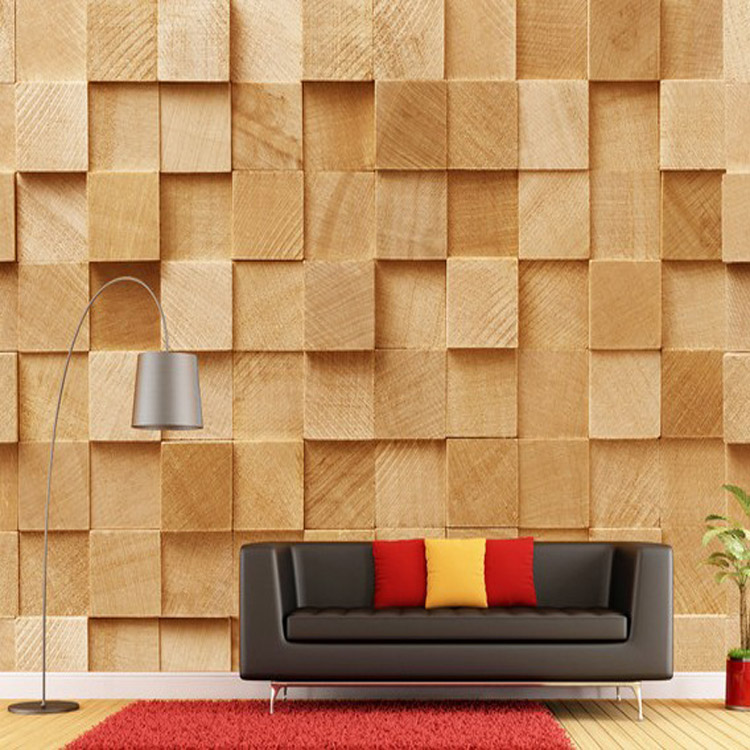 Wood Textured Eco Friendly Personalized Wood Wallpaper