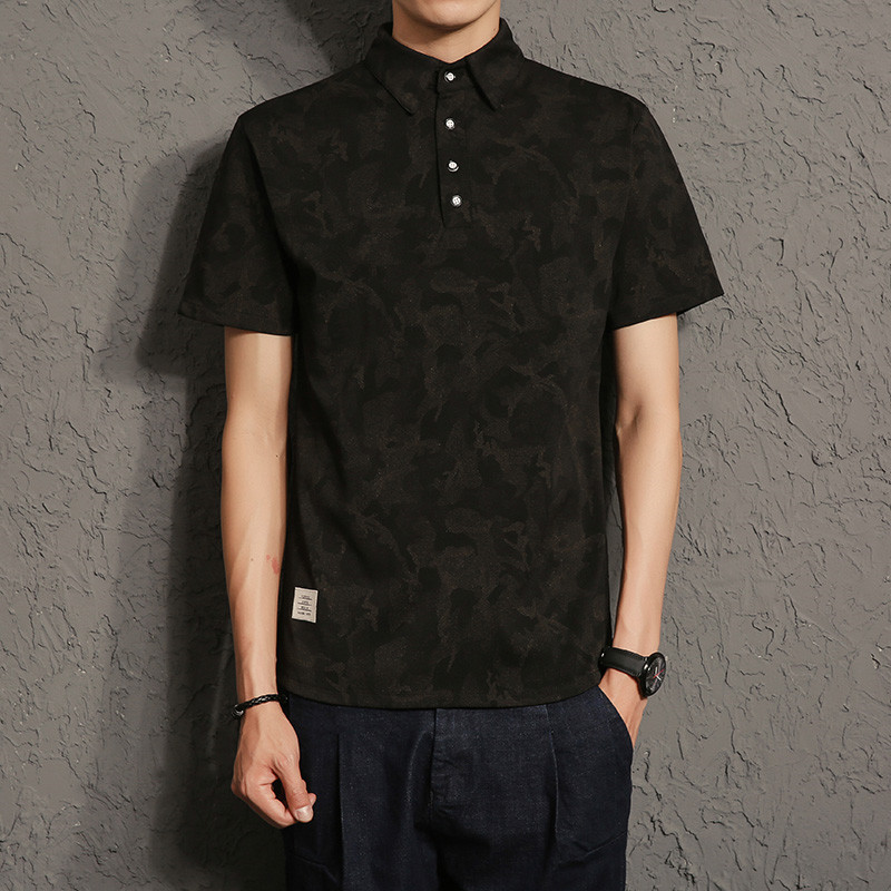men   polo   male camouflage shadow lapel   POLO   unlined upper garment a027 T731