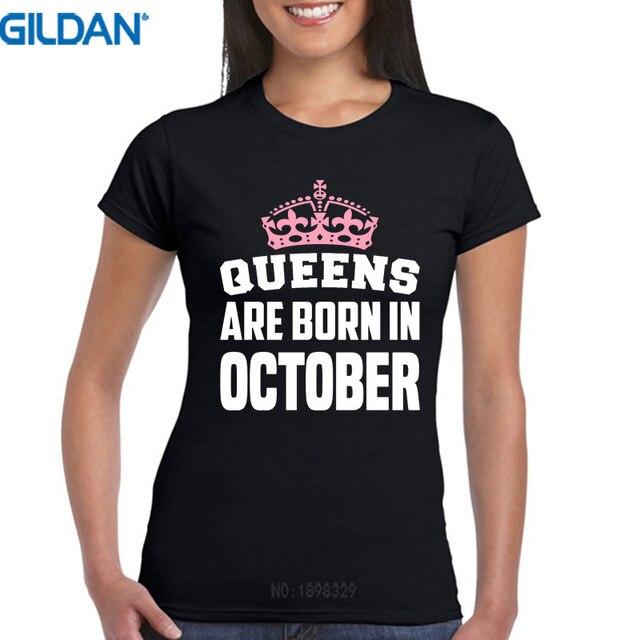 Faire Votre Propre T-shirt Court O-cou De Compression Femmes Queens Sont Né c572412d4618