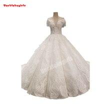 34449 Lace Appliqued Bridal Sleeveless Train Wedding Dress