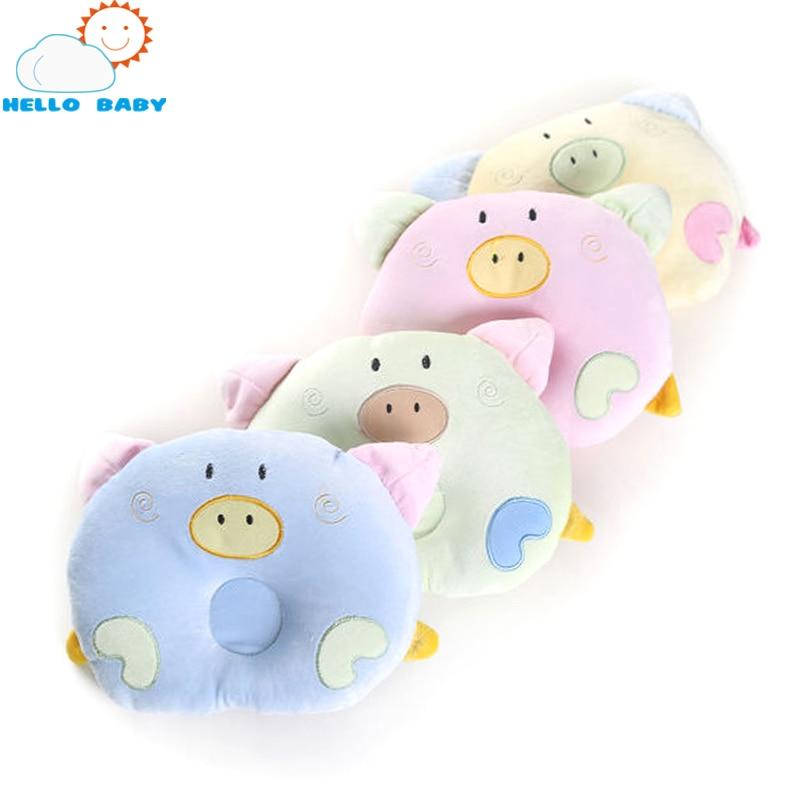 Soft cute confortable animal baby pillow bedding pig design shape newborn car styling cartoon children correction sleep velvet