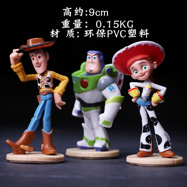 9cm Pvc Plastic Toy Story Woody Buzz Lightyear Joan Cusack Action