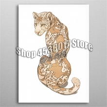 Animals 5d Diy Diamond Painting Cross Stitch Embroidery GEpard Mosaic Full Rhinestone Gifts Home Decor Posters