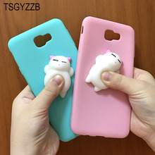 3D Cute Squishy Case Capa For Samsung Galaxy J5 Prime Cover Silicone Soft Squeeze Toys For Samsung J7 Prime Case On7 2016 G570F аксессуар чехол samsung galaxy j5 prime g570f 2016 gecko white gg f sgj5prime 2016 wh