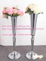 シルバーフラワー花瓶/花ヨーロピアンスタイルの結婚式の装飾家具の記事/ウェディングセンターピース/フラワースタンド