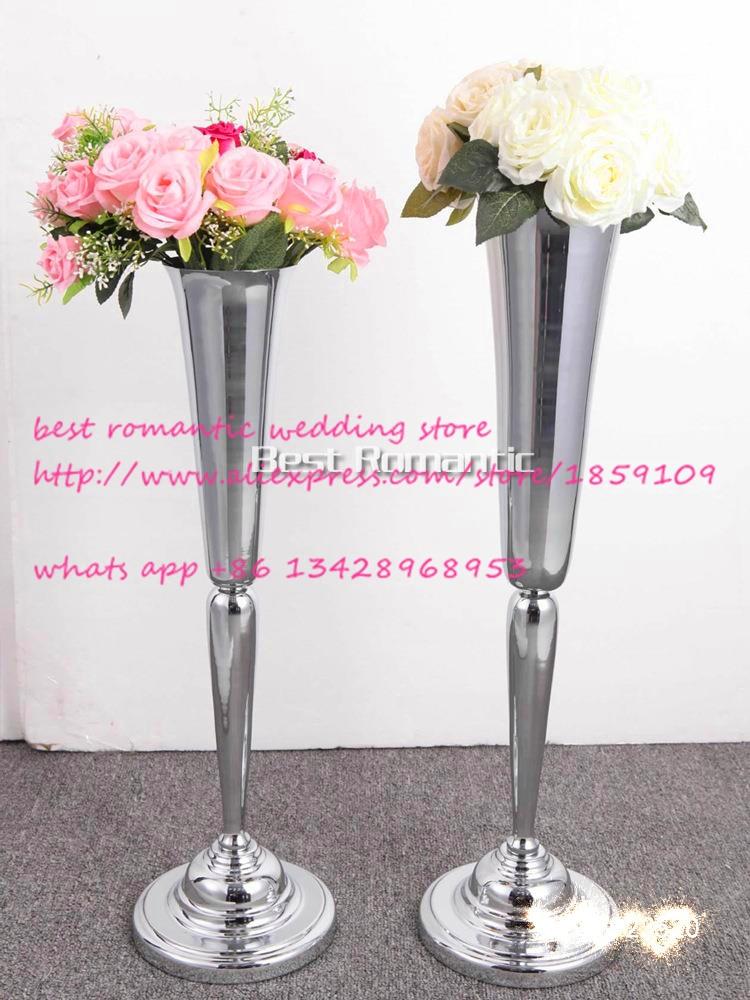 Silver Flower Vase Flower European Style Wedding Decoration