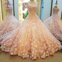 Melice Strapless Appliques Sweep Train Princess Quinceanera Dresses 2017 Beaded Sequnied Debutante Dress For Vestido De