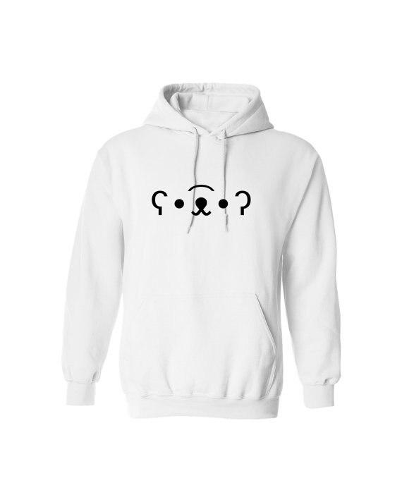 Cute Kawaii Bear Emoticon Emoji Kaomoji for Adult Unisex Tees Mens hoodieUnisex Hoody Unique Sweatshirt Funny Unisex Hoodie Z110 in Hoodies amp Sweatshirts from Men 39 s Clothing