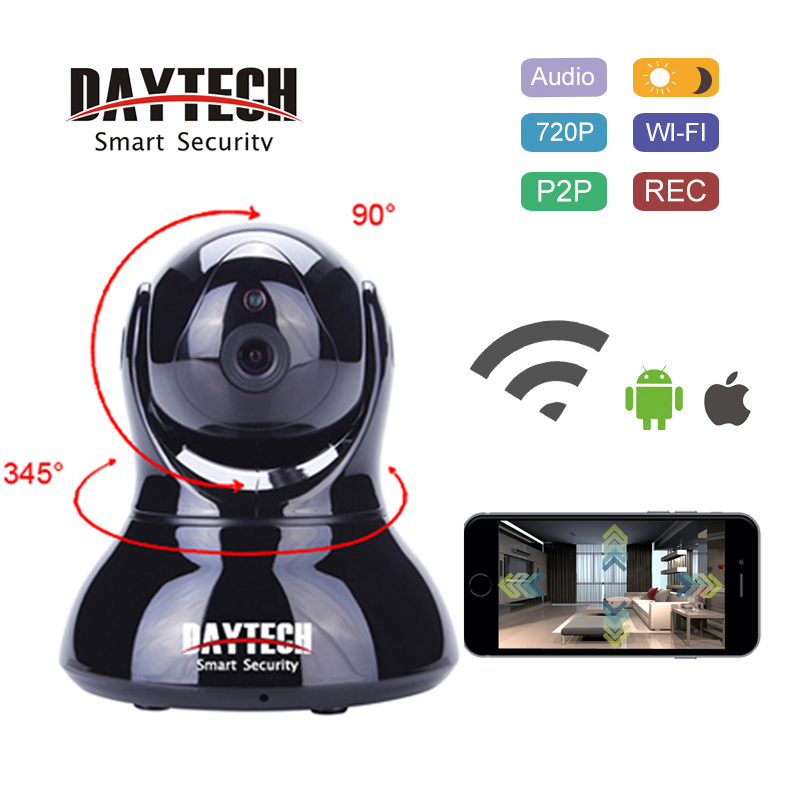 DAYTECH IP Camera WiFi 720P HD Wireless Security Camera Two Way Audio Night Vision IR Wi-Fi Network Monitor P2P Cam robot camera wifi 960p 1 3mp hd wireless ip camera ptz two way audio p2p indoor night vision wi fi network baby monitor security