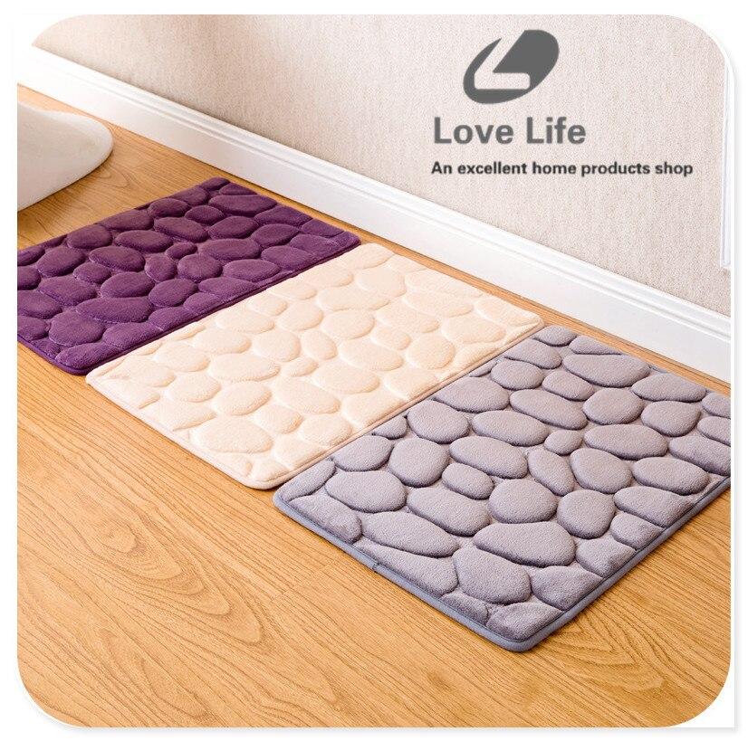 3d pierre non drapant tapis de bain salle de bains toilettes accessoires de tapis tapis - Tapie Salle De Bain Aliexpress