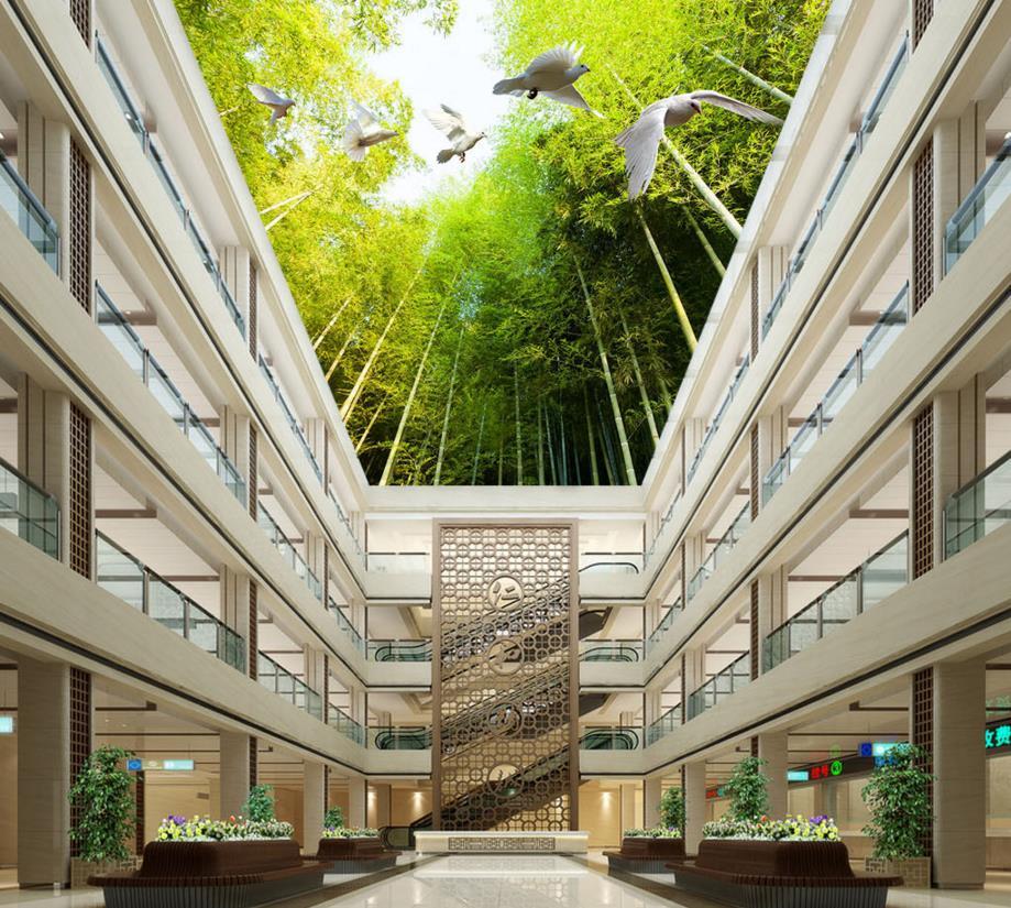 Customized 3d Wallpaper 3d Ceiling Wallpaper Murals Bamboo