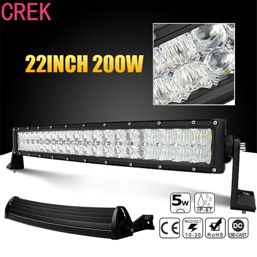 CREK 22 palců 200 W Spot Flood Combo Car LED pracovní světlo Bar Offroad pro 4x4 Truck ATV RZR Přívěsné auto Nárazník Střešní Offroad Driving