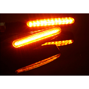Image 3 - Yetaha 2Pcs 12LED Motorcycle Knipperlichten Stromend Water Indicator Amber Oogkleppen Universele Bendable Flasher Signaal Lamp