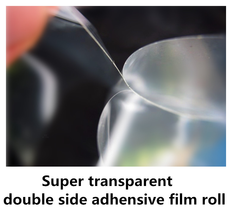 12 50 super transparent double side adhesive roll for Large glass photos production