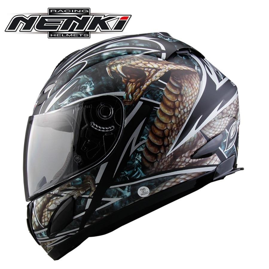 Free shipping 1pcs NENKI Motorcycle Helmet DOT Motocross Helmets Off Road Full Face Racing Helmet with Clear Lens santeri орион белый