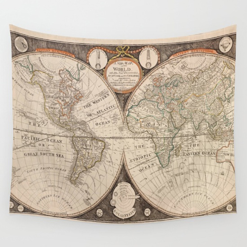 Homing new arrive hanging wall polyester tapestry retro colorful homing new arrive hanging wall polyester tapestry retro colorful world map bedspread home living room decoration yoga mat towel in tapestry from home gumiabroncs Gallery