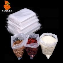 PE Transparent Open Pocket Plastic Packaging High Pressure Resilience Storage Bag Inner Membrane Powder Food Grain