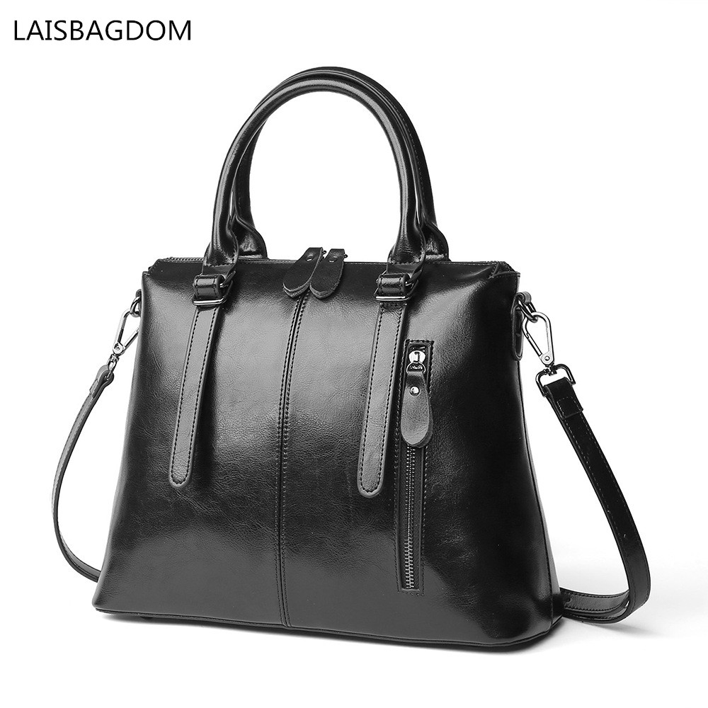 2019 New Fashion Genuine Leather Bags for Women Cowhide Real Leather Woman Handbags Designers Brand Shoulder