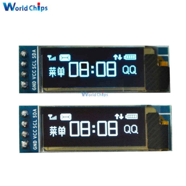 "0.91 Inch 128x32 IIC I2C Serial Blue/White OLED LCD Display DIY Module SSD1306 Driver IC 0.91"" 12832 SSD1306 For Arduino PIC"
