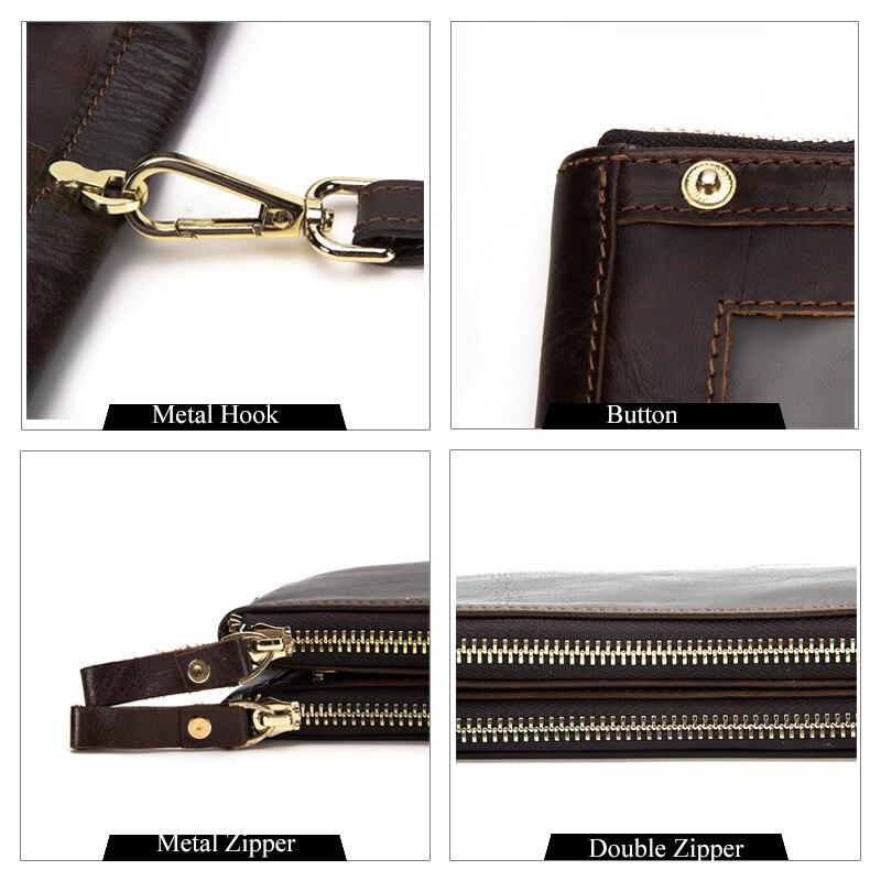 dos homens zipper embreagem carteira Estilo : Fashion
