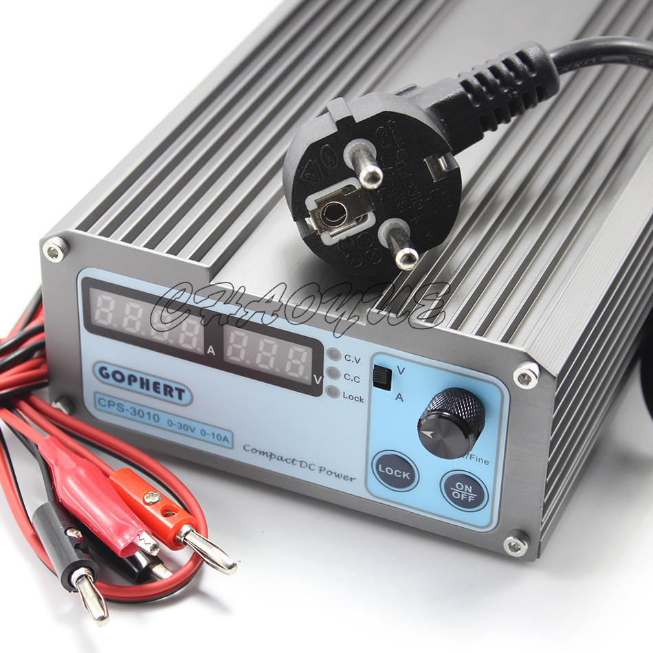 CPS-3010 II DC Power Supply 110V/220V Switchable 30V 10A Precision Digital Adjustable With OVP/OCP/OTP DC Power cps 3205 ii compact digital adjustable dc power supply ovp ocp otp 28 pcs connector notebook power adapter 32v5a 0 01v 0 01a