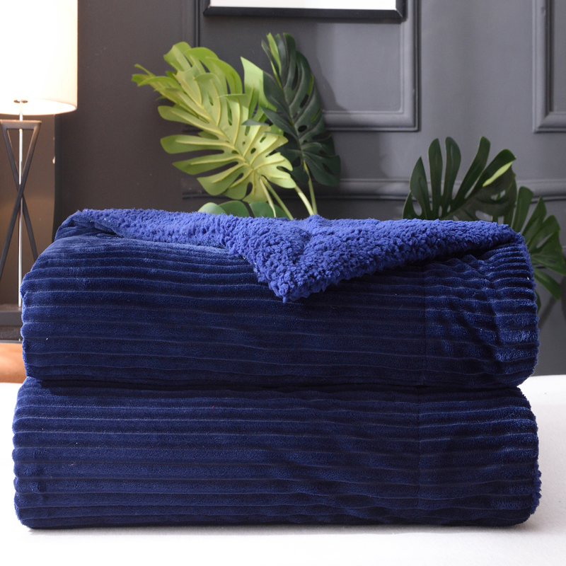 Idouillet Space Grey Thick Warm 2 Layers Sherpa Velvet Blanket Throw For Bed Sofa Couch Fleece Bedding 150x200cm 200x230cm High Quality Materials Home Textile