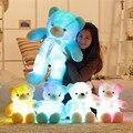 """Grande Enorme 75 cm 30 """"Osito de Peluche Luminoso LED Que Brilla Intensamente Colorido Creativo Brinquedo Novia Precioso de la Navidad Regalos"""