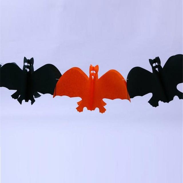 Halloween Decoration Garland Skull Bat Ghost Pumpkin Spider Color-Bar Halloween Christmas Gift party decoration 20 units/lot 3m