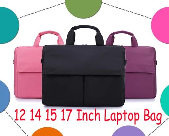 Solid 12 14 15 17 Inch Nylon Computer Laptop Notebook Tablet Bag Bags Case Messenger Shoulder unisex men women Durable