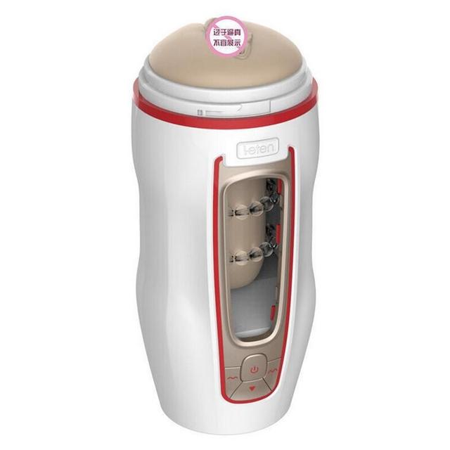 Leten Automatic Masturbation Cup Realistic Vagina Strong Suction Vibration Sex Masturbator for Men