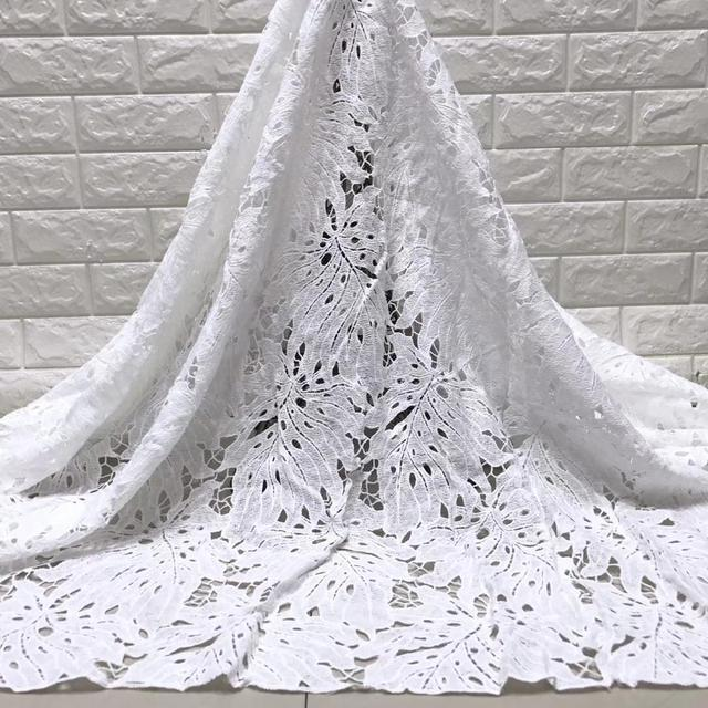 wholesale 5yards latest african milk silk  lace  water soluble chemical lace fabric,high quality african cord lace    JYMAY201 1