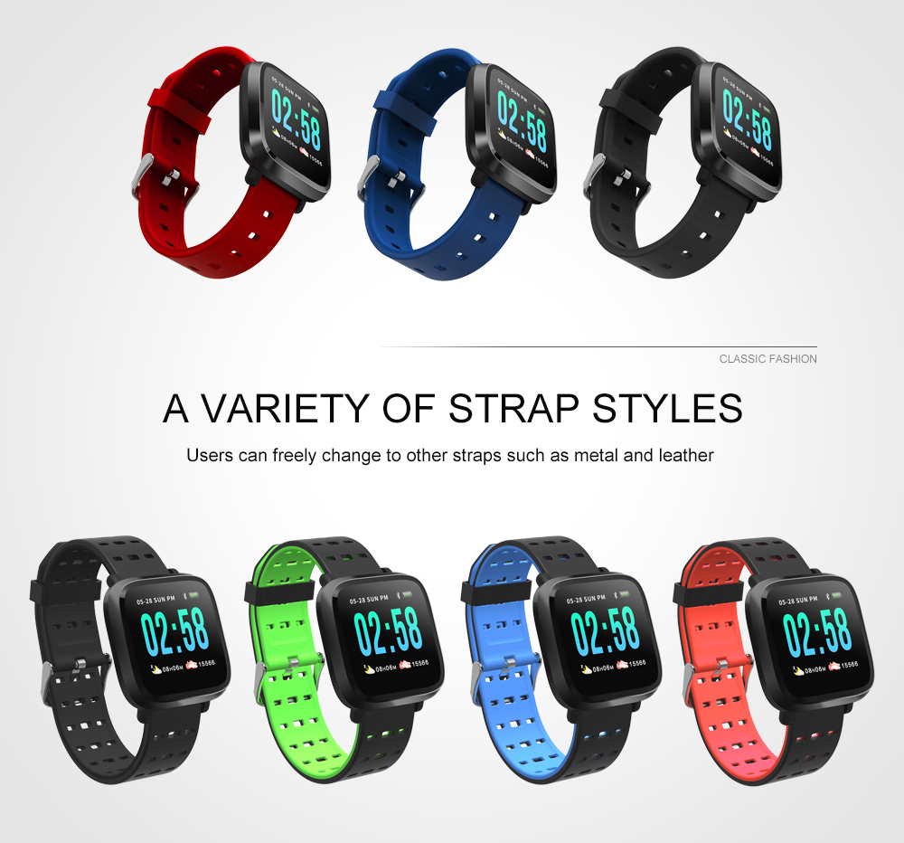 Y8 Smartwatch Wearable Device Bluetooth IP67 Waterproof Pedometer Heart Rate Monitor Color Display Smart Watch For AndroidIOS (3)