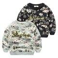 Весной и осенью свитер 2017 новые цветочные Футболки печать и крашение одежды head мальчик досуг куртка весна