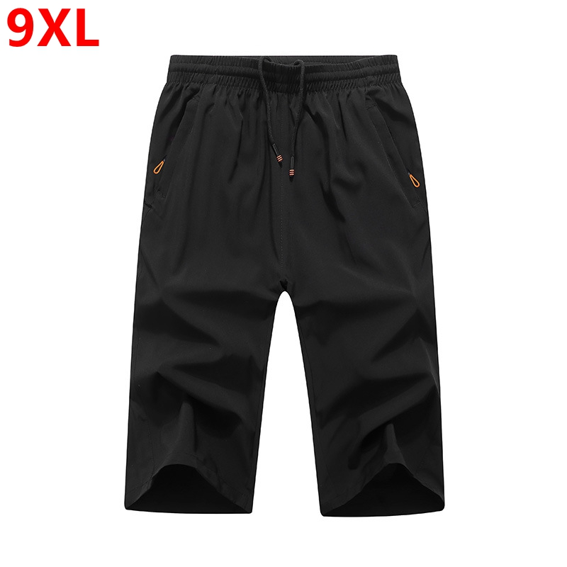 Summer thin large size quick-drying calf-length pants men Cropped pants loose calf-length pants casual pants summer thin