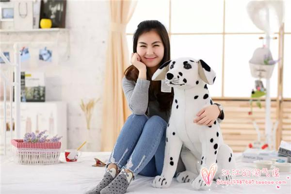 large 60cm Dalmatian dog plush toy squatting dalmatian dog ,birthday gift h746