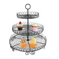 3 Tier Metal Cupcake Stand Holder Wedding Party Display Muffin Cake Dessert Stand For Decoration Fruit Stand Rack send by random