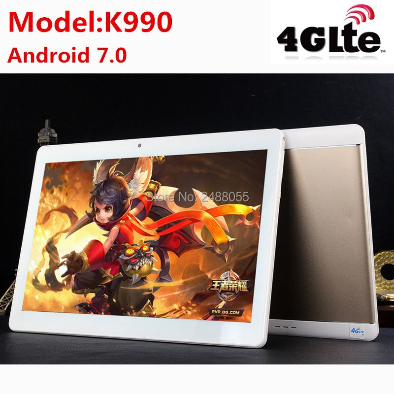 2018 World Cup K990 10.1 Inch tablet MTK8752 Android Tablet Octa Core 4GB RAM 64GB ROM Dual SIM GPS Android 7.0 10 Tablet PC