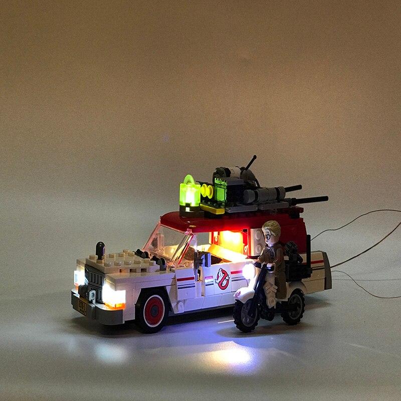 Led Set para construcción Lego Movie Series 75828 para 16032 Ecto-1 y 2 Ghostbusters bloques juguetes película serie conjunto de iluminación